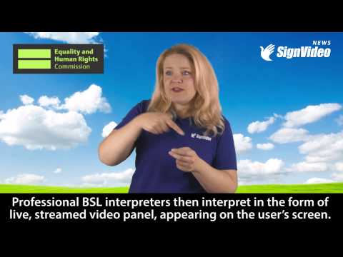 BSL Live now available on Equality and Human Rights Commission website