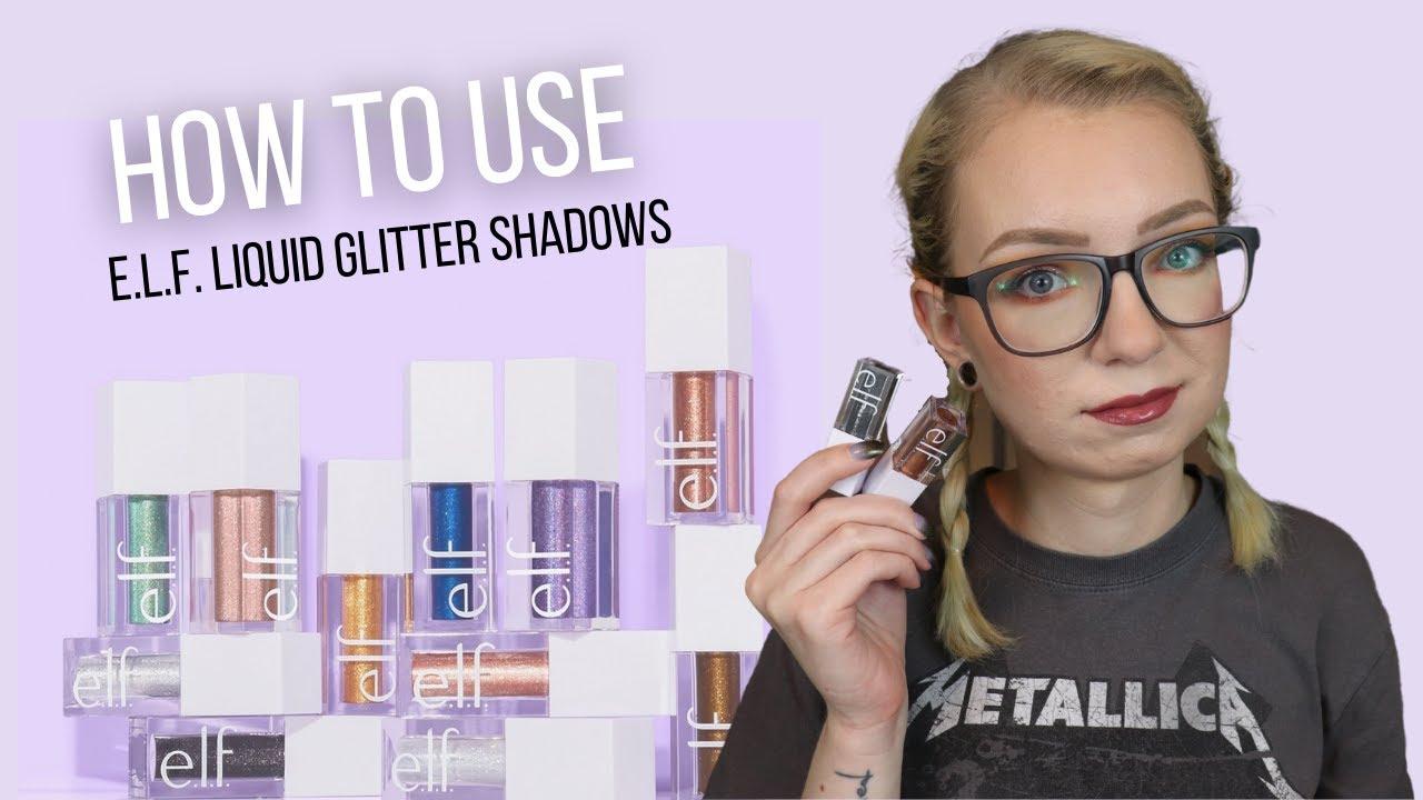 3 Ways to Use ELF Liquid Glitter Eyeshadows | Abby Hoang