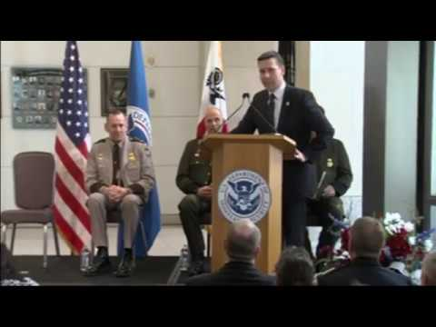 Chief of the U.S. Border Patrol Swearing in Ceremony