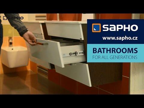 SAPHO - Umyvadlové skříňky - návod na vyjmutí zásuvek (KALI, PULSE, MELODY)