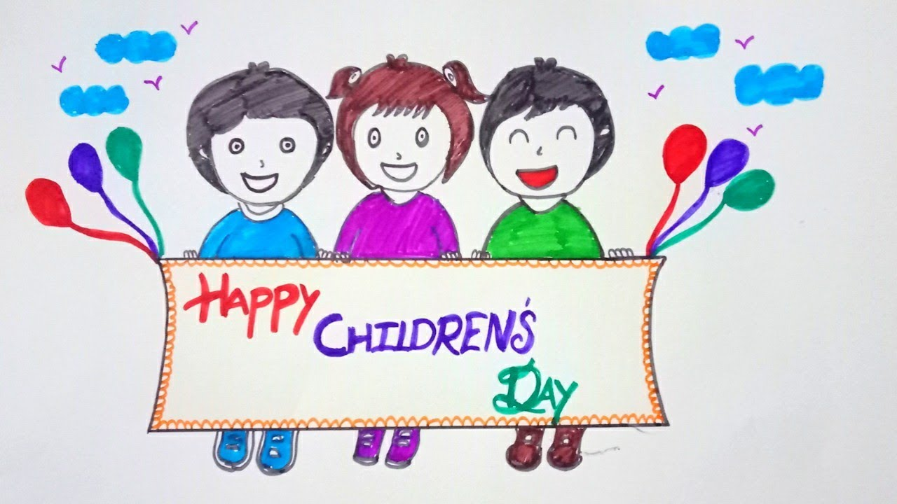 Childrens Day Best Drawing For Kids Happychildrensday Youtube