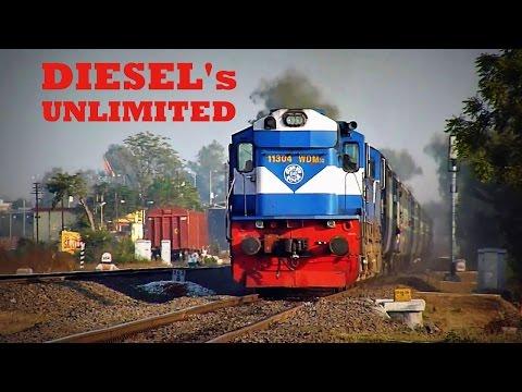 100 in 1 !! Indian Railways ALCO Diesels Unlimited !!