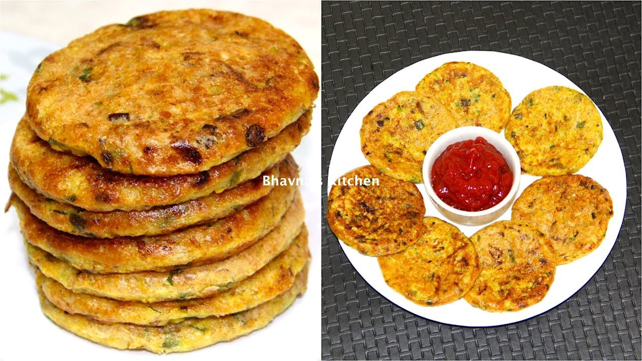 Zucchini Oat Cakes Patties Video Recipe | Vegan & Gluten Free Bhavna's Kitchen