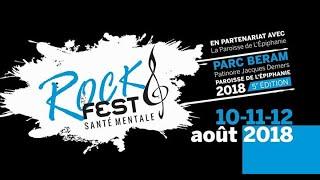 Montage-Entrevues du Rock Fest pour la santé mentale 2018.