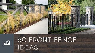Gambar cover 60 Front Yard Fence Ideas