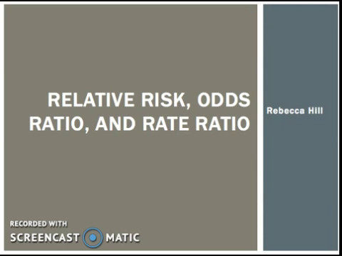 Relative Risk, Odds, Ratio, and Rate Ratio