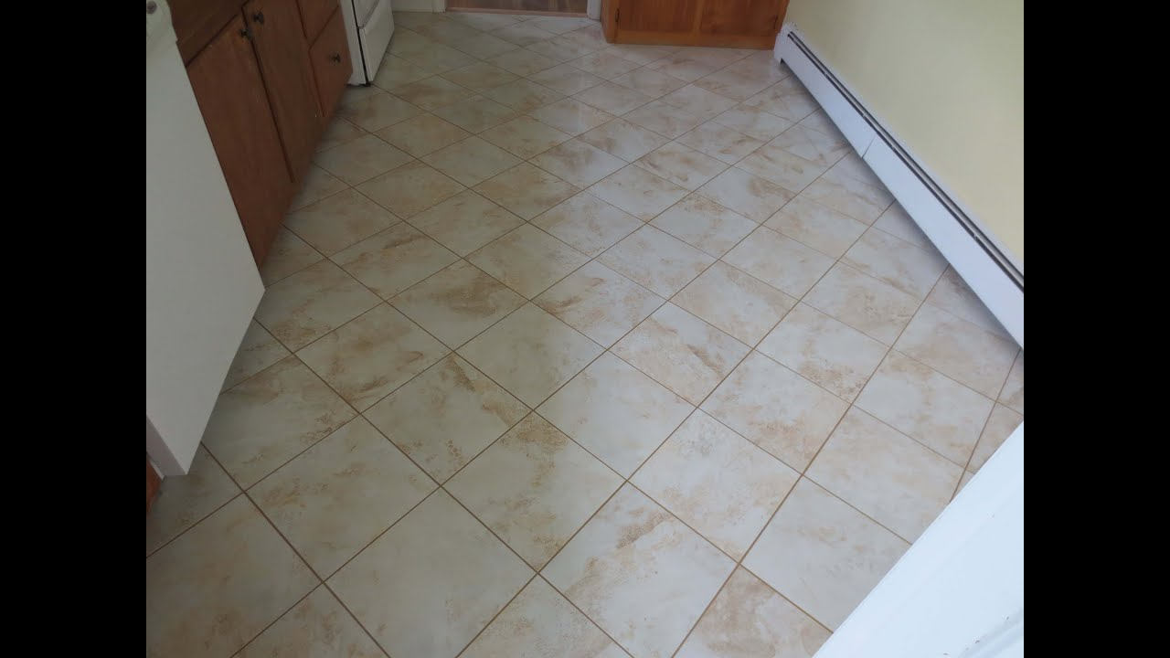 Diagonal Tile Kitchen Floor Rip Out To Finish Time Lapse