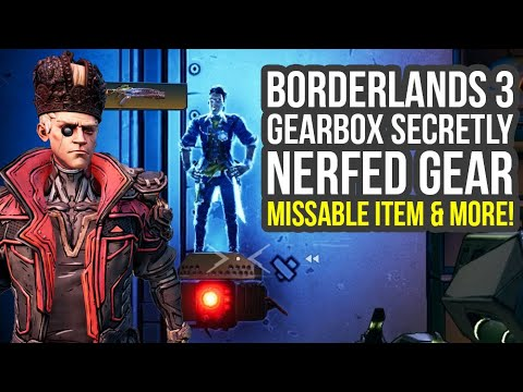 Borderlands 3 Update SECRETLY Nerfed Gear, Missable Item, Weapon Effects & More BL3 thumbnail