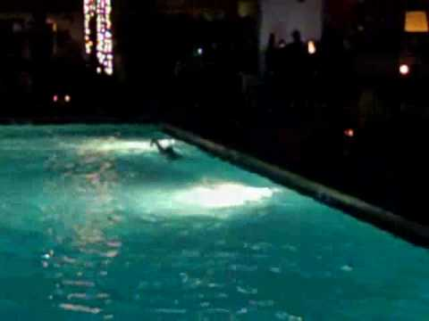 what happens when there is a pool located in the middle of a bar:
