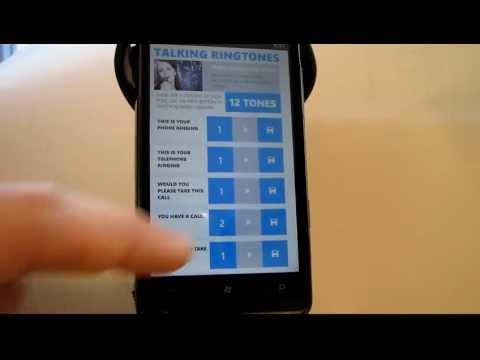 Talking Ringtones Female, Android and Windows Phone App / Ringtones