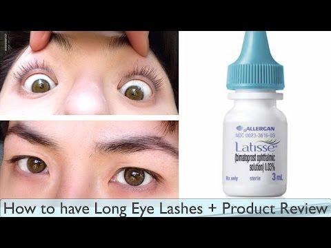 How To Have Long Eye Lashes + Latisse Product Review