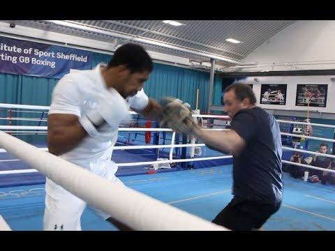 BEAST!  ANTHONY JOSHUA DESTROYS THE PADS WITH TRAINER ROB McCRACKEN  JOSHUAPOVETKIN