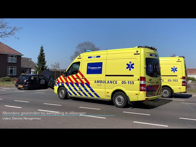Meerdere gewonden bij ongeval in Albergen