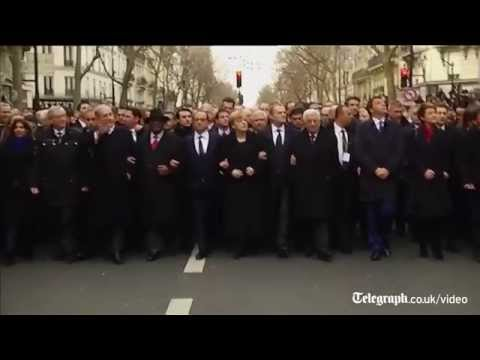 World leaders join mass Paris march to honour attack victims