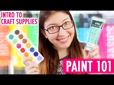 PAINT 101 | Intro to Craft Supplies | @karenkavett