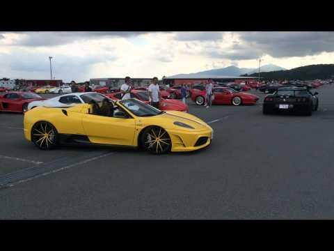 フェラーリ・レーシング・デイズ2014 in 富士に訪れていた360モデナとスクーデリアスパイダー16M.