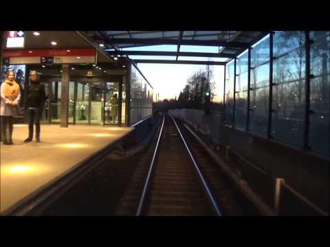 Helsinki metro. Vuosaari-Ruoholahti. Ohjaamovideo. Cab video.