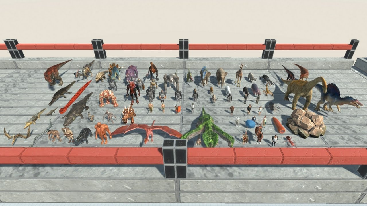 UPDATED Faction Army Competition in Sky Corridor from ALL UNITS Animal Revolt Battle Simulator