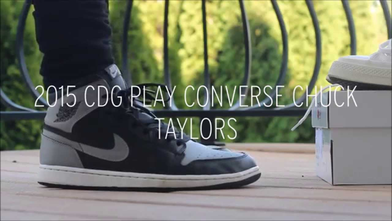 c88d8397d90 CDG X CONVERSE CHUCK TAYLOR ON FEET + QUICK REVIEW - YouTube