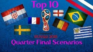 Top 10 Quarter Finals Scenarios - World Cup Russia 2018