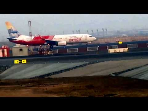 Dubai International Airport Views & Flight Takeoff with Fog