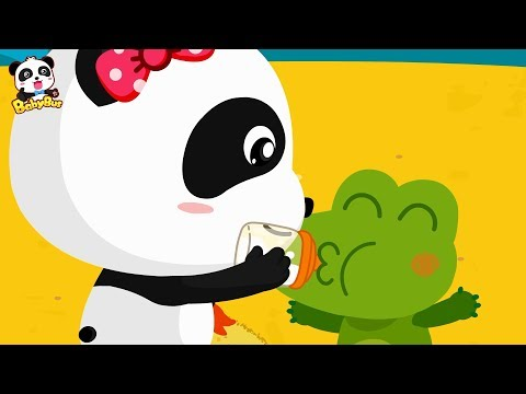 Baby Panda Takes Care of Baby Crocodile | Baby Care | Crocodile, Shark,Dinosaur | BabyBus