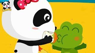 Baby Panda Takes Care of Baby Crocodile | Baby Care | Crocodile, Shark,Dinosaur | BabyBus