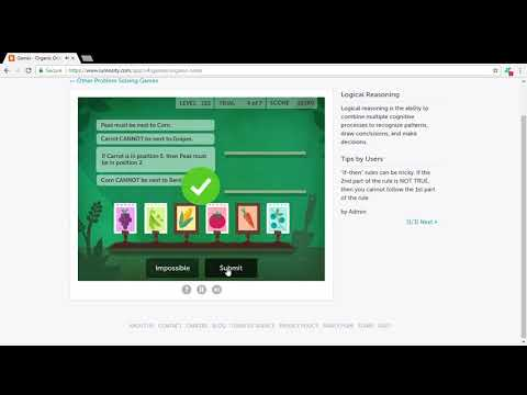 Lumosity - Organic Order - 29260 Score - Brain Games 2017