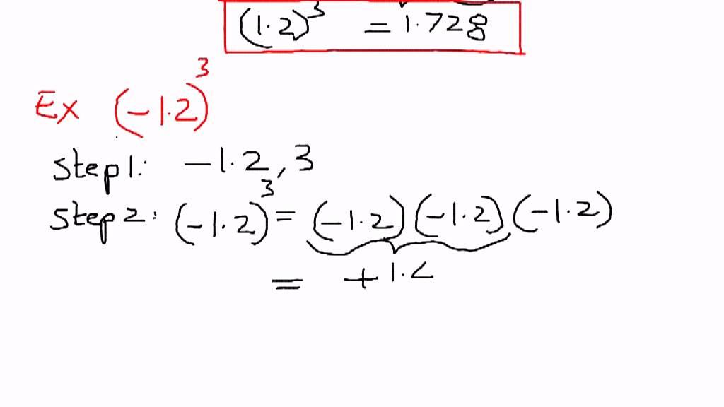 Exponents-Decimals Examples