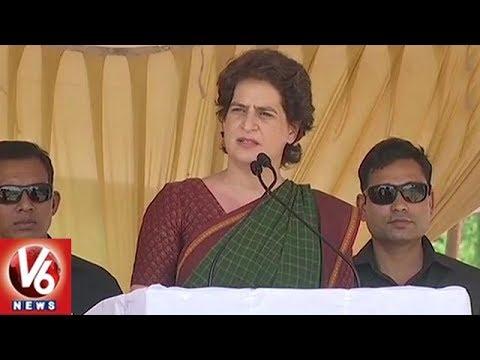 Priyanka Gandhi First Election Campaign In Rahul Gandhi Wayanad Constituency  | V6 News