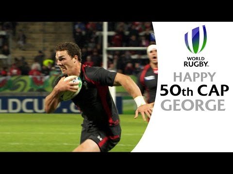 George North powers through Namibia