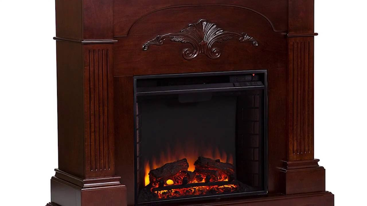 fe9277 sicilian harvest electric fireplace mahogany youtube