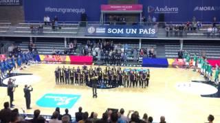 Cor de Rock d'Encamp - Himne d'Andorra al Pavelló de Govern 2016 (MoraBanc-Joventut)(Interpretació de l'Himne d'Andorra al Pavelló de Govern en el partit entre el MoraBanc Andorra i el Divina Joventut de Badalona en la 3a jornada de la Lliga ..., 2016-10-09T20:17:30.000Z)