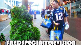 NEW ENGLAND PATRIOTS FAN FREAKS OUT AT THE BUSHMAN PRANK