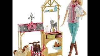 Opening Barbie Careers Farm Vet Playset