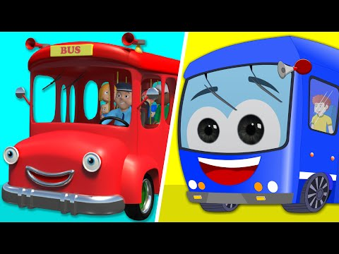 Wheels On The Bus | Wheels On The Bus Go Round and Round | K