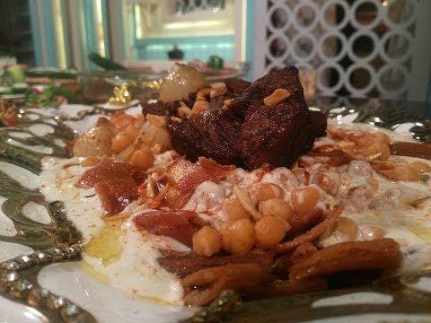 طريقه عمل فته الحمص وشيخ المحاشي وسلطه اللبنه من الشيف محمد حامد في المطعم