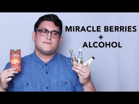 Miracle Berries + Alcohol: A Test Drive