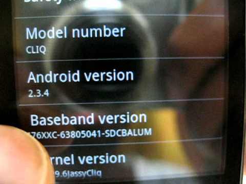 Android 2.3.4 version on the Motorola Cliq