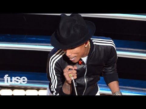 "Pharrell Gets ""Happy"" At the Oscars"