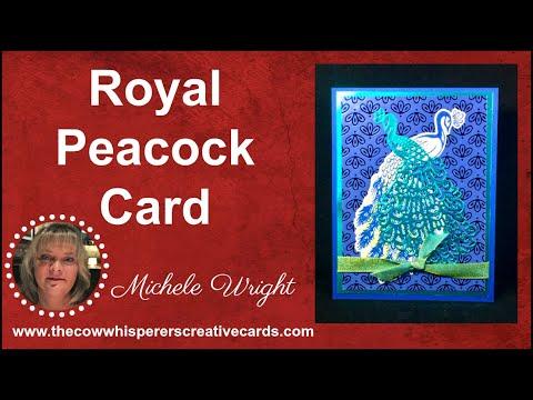 Royal Peacock Card