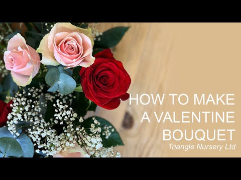 how-to-make-a-valentine's-day-bouquet-with-red-and-pink-roses