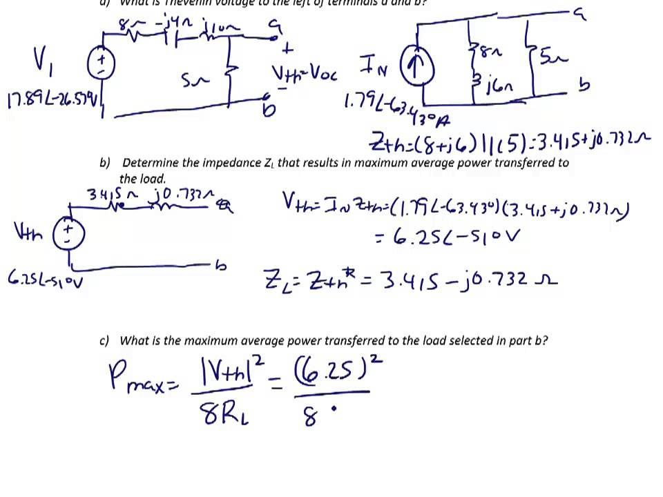 ES203 Lec 10-2: Complex power calculations, maximum power transfer