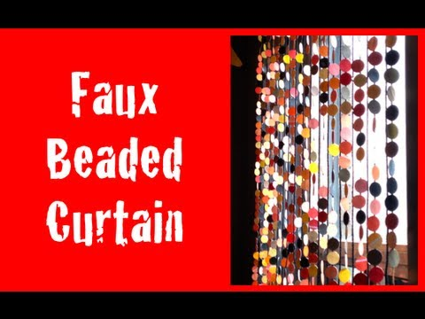 Superbe DIY: Faux Beaded Curtains ♡ Theeasydiy #HalloweenHorror   YouTube
