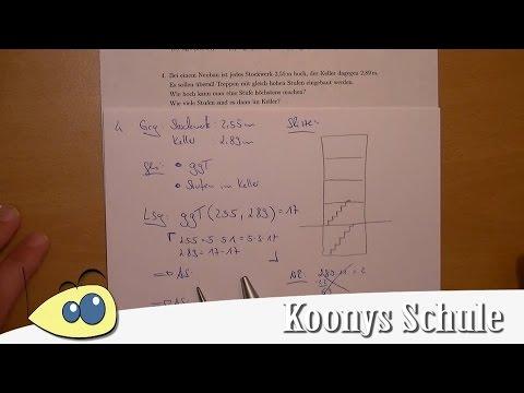 Textaufgabe Stufen, Stockwerk, Keller, Treppen | Aufgabe 4 - kgV und ...