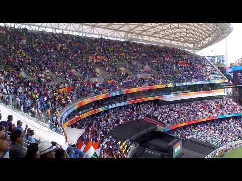 40000 Indian Cricket Fans Singing The National Anthem Ind VS Pak Wc 2015