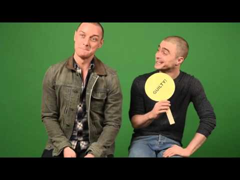"James McAvoy and Daniel Radcliffe play ""Never Have I Ever"""