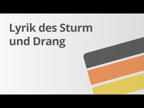 Lyrik Des Sturm Und Drang Deutsch Literatur Youtube