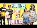 My Teenage Brothers Buy My Summer Outfits!!