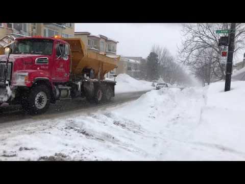 Winter Storm Today, February 13, 2019 Quebec City Canada